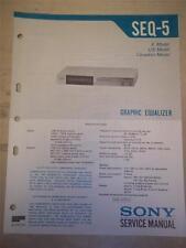 Sony Service Manual~SEQ-5 Graphic Equalizer~Original~Repair