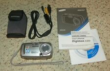 Samsung Digimax A400 4MP Digital Camera with 2.8x Optical Zoom - Silver