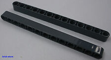 LEGO® Technic / dunkelgraue / 13 Lochstein mit Rundung /  2 Stück