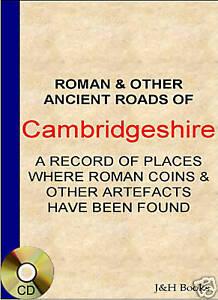 CAMBRIDGESHIRE COIN FINDS + MAPS Metal Detector Roman - CD