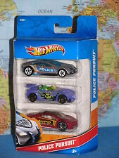 HOT WHEELS POLICE PURSUIT SPEED TRAP MITSUBISHI ECLIPSE CONCEPT 3 PACK X7251