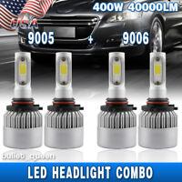 9005 9006 LED Headlight Kit Hi/Low Combo Bulbs for Jeep Grand Cherokee 2003-2010