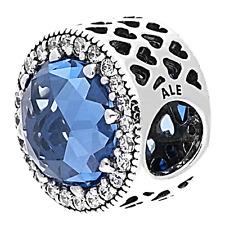Authentic PANDORA 791725NBS Sky Blue Radiant Hearts Charm