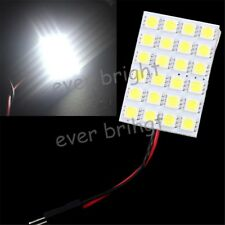4X White 24 SMD 5050 LED Car Interior Dome Light T10 BA9S Festoon Panel 12V DC