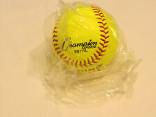 1 softball Champion Sports Sb111L Nfhsa Cork Core 11 in Yellow official Nos Nwt