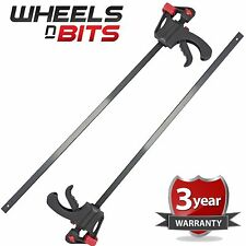 """2PK 24"""" 60cm  Quick Rapid T Bar Speed Clamp Fast Ratchet Spread Holder One Hand"""