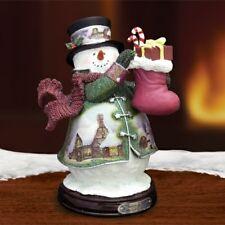 Thomas Kinkade Figurine - Gift of Giving Snowman New Item 1513888016 COA