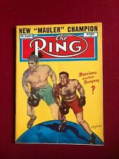 """1952, Rocky Marciano, """"The RING"""" Magazine (No Label) Scarce / Vintage (Dempsey)"""