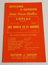 Partition double sheet music Accordéon PASO-DOBLES Coplas +1 * 60's J. Garzon