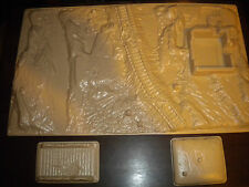 "AMT ERTL 1/72 to 1/76 Plastic WWII Battlefield  17 1/4"" X 10 1/4"" Ex-Esci Molds"
