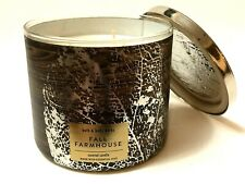1 BATH & BODY WORKS FALL FARMHOUSE 3-WICK SCENTED LARGE 14.5 OZ FILLED CANDLE