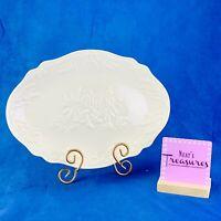 Lenox HARVEST Special Embossed Fruit Pumpkins Wheat Large Oval Serving Platter