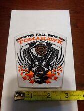 B HARLEY-DAVIDSON Harley Vest Jacket patch 2015 Tomahawk Wis MDA Fall Ride