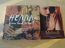 LOT ON HENNA BODY DECORATION COLORING MEHNDI PAINTING MIRZA MEDICINAL USES