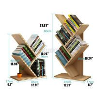 5 Tiers Shelf Tree Bookshelf Rack Bookcase Storage Unit Table Display Organiser