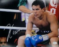 Julio Cesar Chavez Sr Signed Autographed 16x20 Photo Sitting in Ring Right JSA