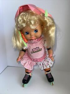 Vintage Mattel Doll Baby Rollerblade 1980 Battery Operated Skating Toy Working