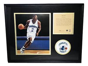 Larry Johnson Charlotte Hornets 1994 ROY Framed Lithograph Art Print Photo #778