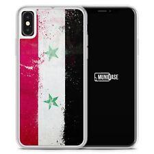 iPhone X Hülle SILIKON FROST - Syrien Grunge - Motiv Design  - Handyhülle Schut