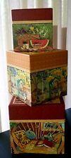 Set of 3 LEGACY Nesting Box - Square - STILL LIFE design