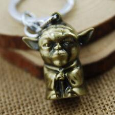 HOT Master Yoda STAR WARS Figure Alloy Pendant Keychain Ring Key Chain Keyring