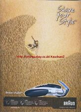 "Braun Cruzer3 ""Shave Your Style"" 2004 Magazine Advert #701"