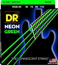 DR NGB-50 Neon Green Bass Guitar Strings gauges 50-110