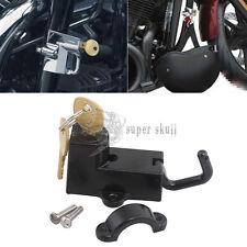"Motor Helmet Lock Kit Anti-theft for 7/8"" 22mm engine guard tube 45732-86 Black"