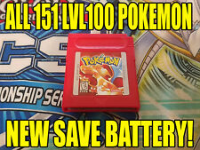 POKEMON RED All 151 GAME UNLOCKED AUTHENTIC & NEW BATTERY!