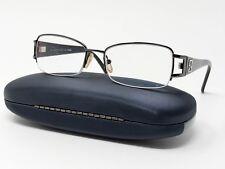 Fendi Eyeglass Frames F927R Gray Black Metal Plastic Half Rimless 52[]17-130