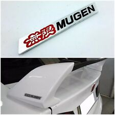 Mugen Logo Aluminium Red Black Part Car Spoiler Badge Emblem Logo For Honda