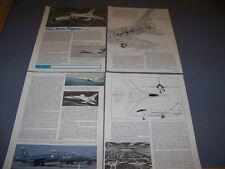 Vintage.Grumman F11F-1 (F-11A) Tiger.Specs/Cutaway/3-Vie ws.Rare! (973B)