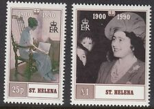 ST HELENA:1990 Regina madre il Compleanno Set sg570-1 never-hinged MINT