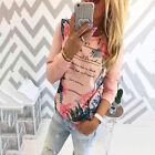 Moderno manga larga mujer Estampada Camiseta Jersey Casual Suéter Blusa