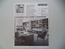 advertising Pubblicità 1972 INTERLUBKE