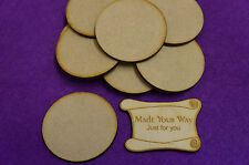 15 x Circle Round 5cm/50mm Craft Embellishment MDF Laser cut wooden shape