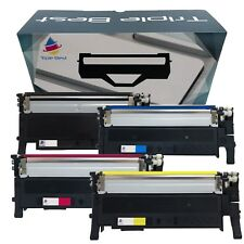 4 Pack Black & Color CLT-K407S Toner for Samsung 407 CLP-325W CLP-326 CLX-3180