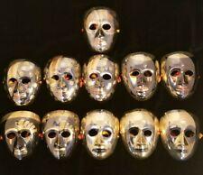 Lot of 11 Brass Face Masks Wall Decor