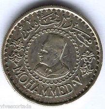 Marruecos 500 Francos 1956 Mohammed V plata ( Muy Bella )