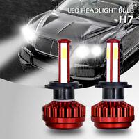 400W 40000LM 4-Side LED Headlight Kit H7 Conversion 6000K XENON White Bulb Pair