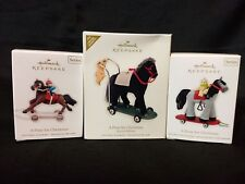 Lot of 3 Hallmark Keepsake Ornaments Series A Pony for Christmas Sp. Ed. 13 & 14