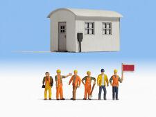 NOC12011 - Cabane de chantier avec ouvriers  - 1/87