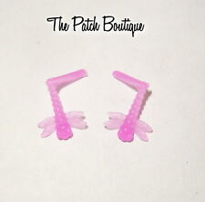 MONSTER HIGH 13 WISHES LAGOONA BLUE DOLL REPLACEMENT PINK DRAGONFLY EARRINGS