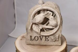 """Garden Key Holder Statue - Reads 'Hope' and 'Love"""""""