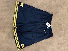 new mens nike authentic michigan wolverines basketball shorts vtg xxl