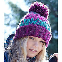 Beechfield Corkscrew Pom Pom Beanie Hat Winter Warm Bobble Woolly Knitted Ski