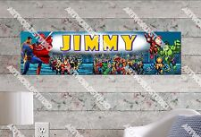 Personalized/Customized Super Hero Name Poster Wall Art Decoration Banner