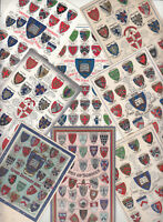 Heraldic coat of arms of schools university Oxford Cambridge college heraldry x8