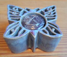 Bay Pottery Candlepots Butterfly with Yankee Blueberry Votive Made in USA