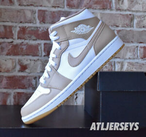 Nike Air Jordan 1 Mid Hemp Tan White Gum 554724-271